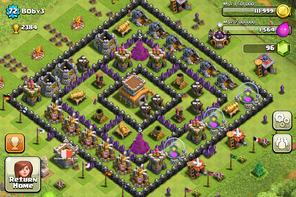 Clash of Clans Base Design for Townhall Level 8 by boby3