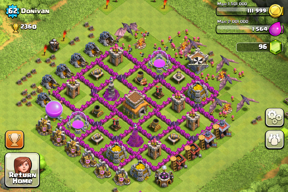 Clash of Clans Base Design for Townhall Level 8 by donivan