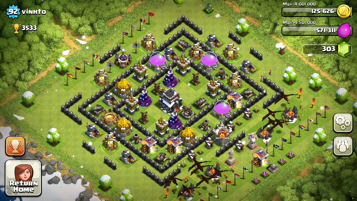 Clash of Clans Base Design for Townhall Level 9 by vinhto