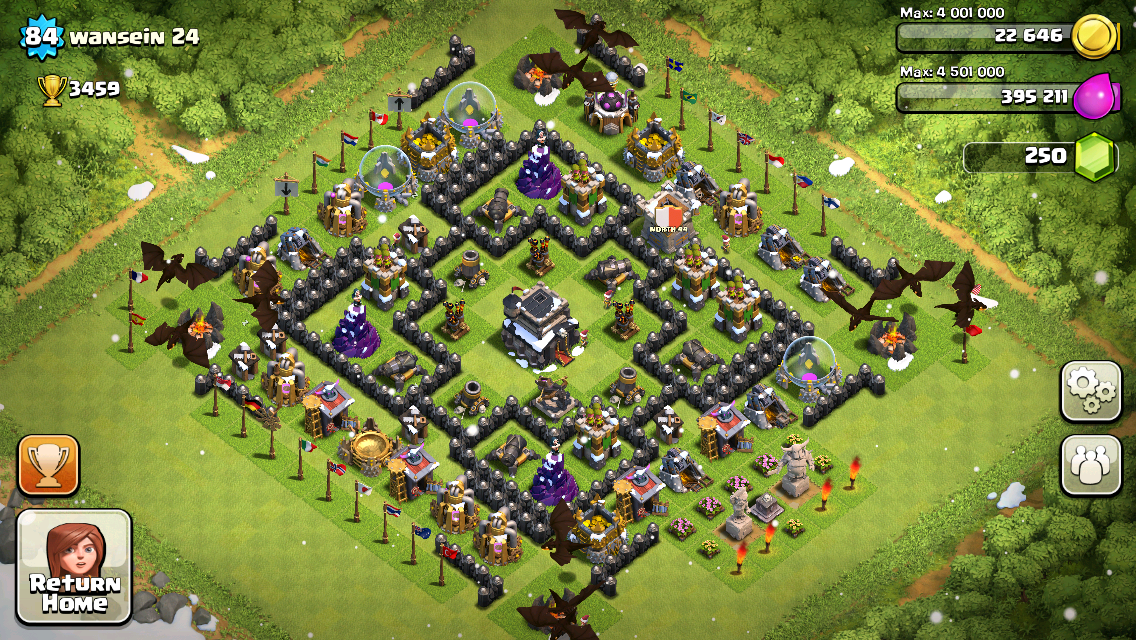 Clash of Clans Base Design for Townhall Level 9 by wansein
