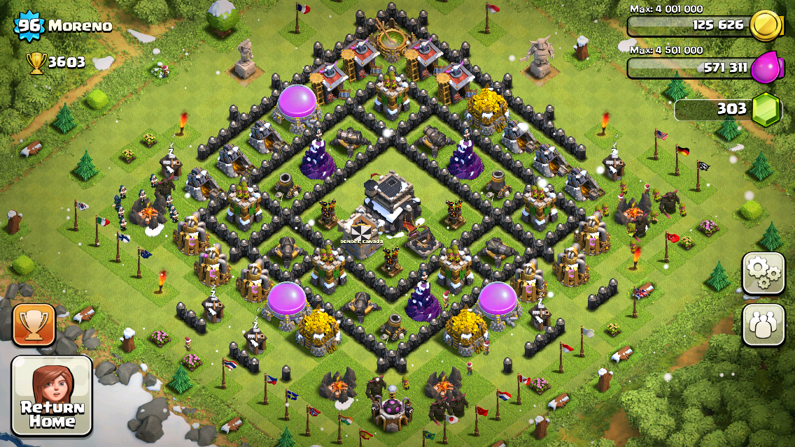 Clash of Clans Base Design for Townhall Level 9 by moreno