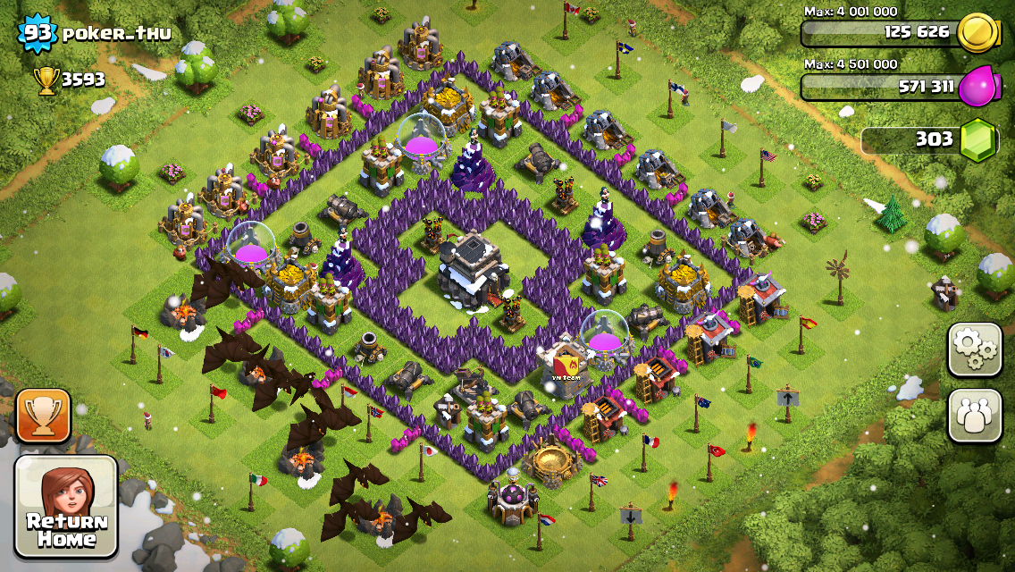 Clash of Clans Base Design for Townhall Level 9 by poker_thu