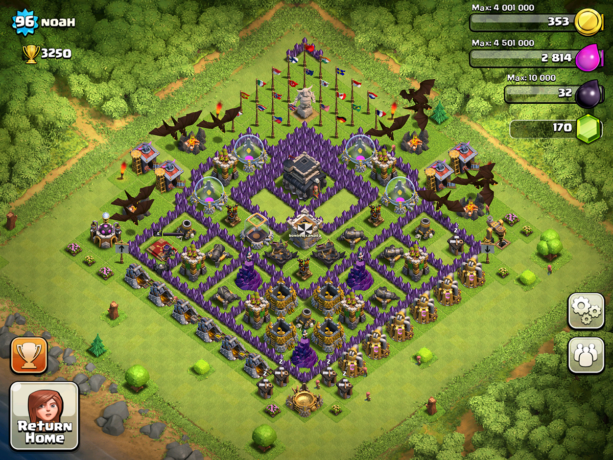 Clash of Clans Base Design for Townhall Level 9 by noah