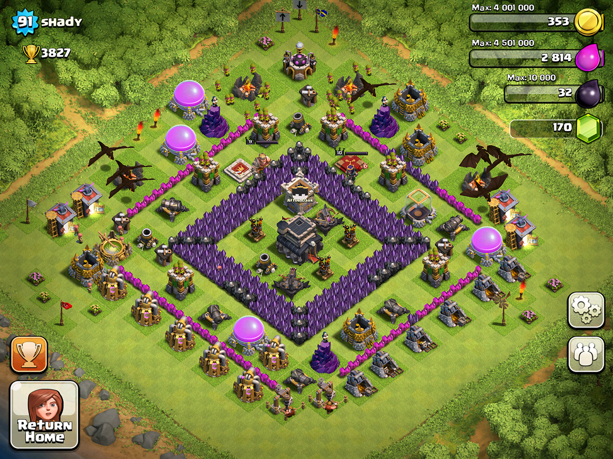 Clash of Clans Base Design for Townhall Level 9 by shady