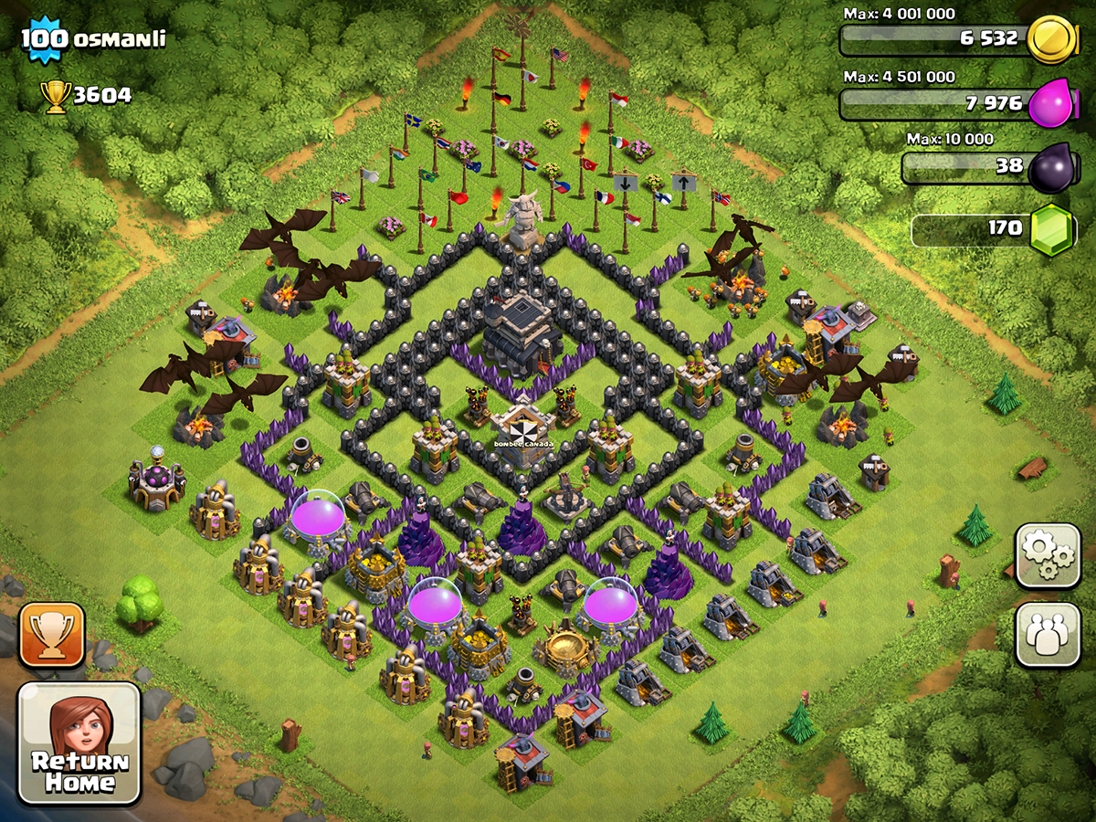 Clash of Clans Base Design for Townhall Level 9 by osmanli