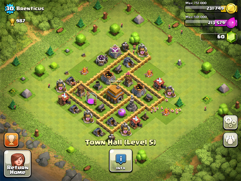 Clash of Clans Base Design for Townhall Level 5-7 by brenticus