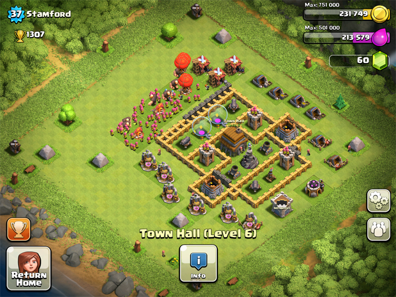 Clash of Clans Base Design for Townhall Level 5-7 by stamford