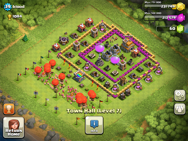 Clash of Clans Base Design for Townhall Level 5-7 by blood