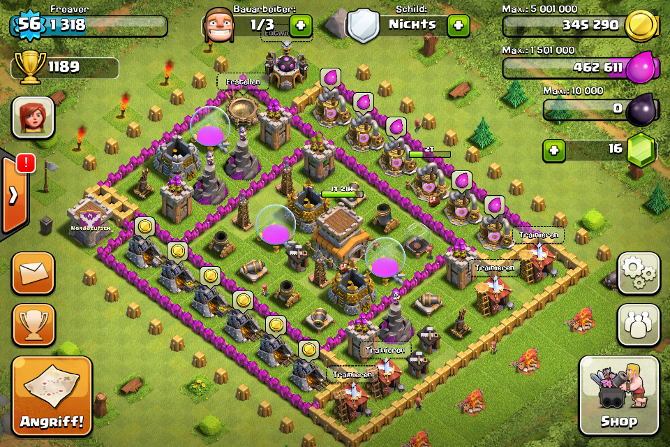 Clash of Clans Base Design for Townhall Level 8 by freaver