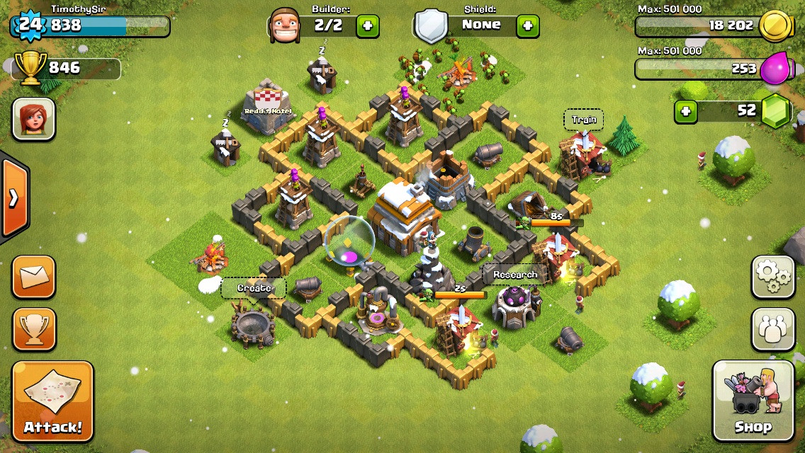 Clash of Clans Base Design for Townhall Level 5-7 by timothysir