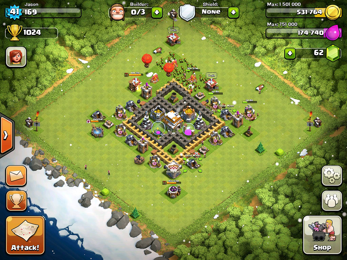 Clash of Clans Base Design for Townhall Level 5-7 by jason