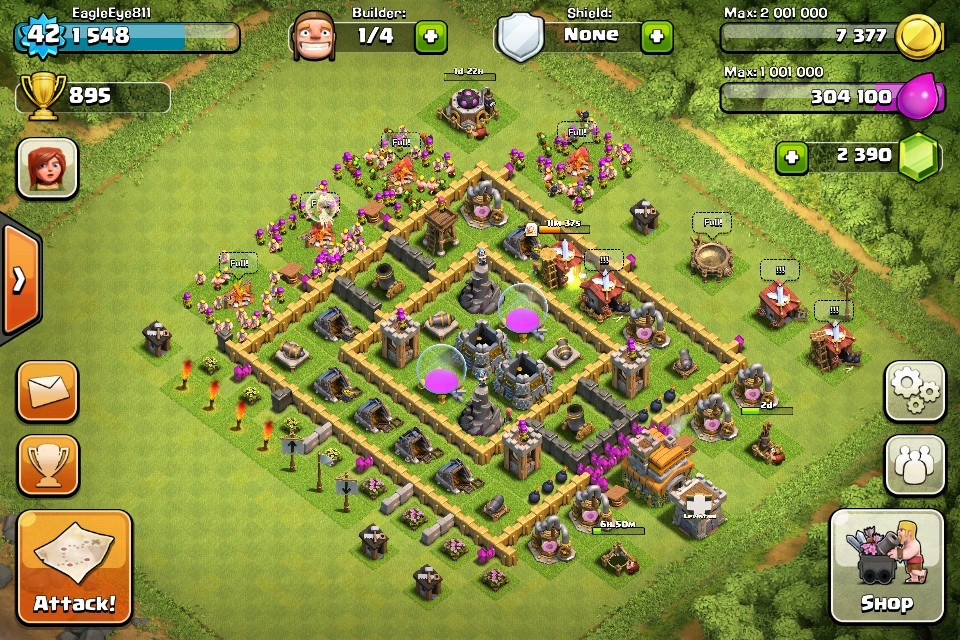 Clash of Clans Base Design for Townhall Level 5-7 by eagleeye811