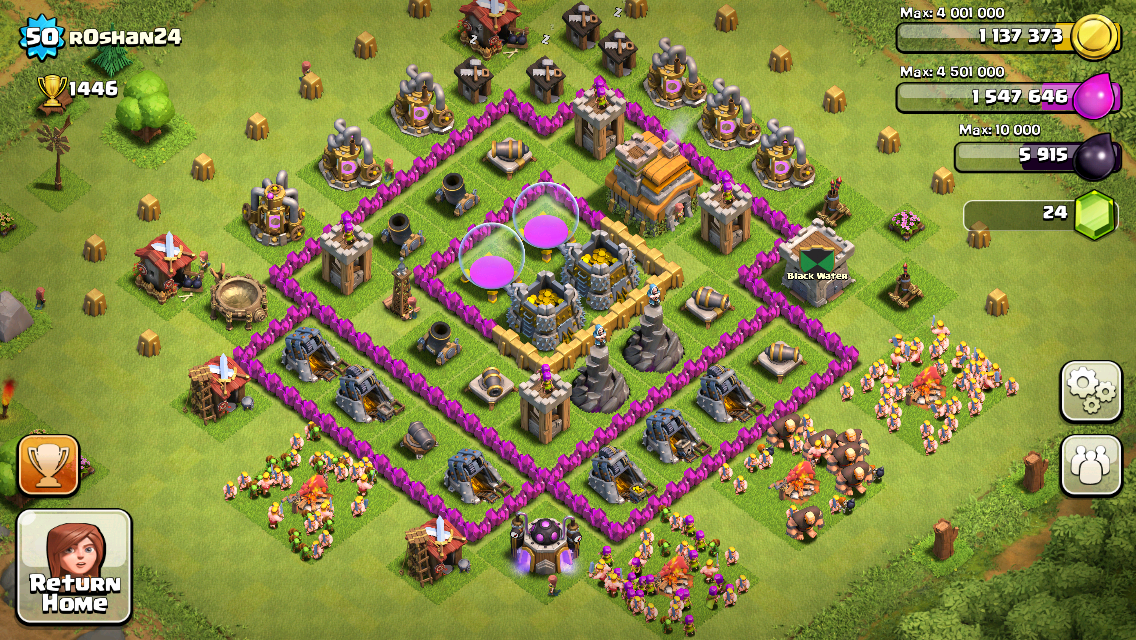 Clash of Clans Base Design for Townhall Level 5-7 by Roshan24