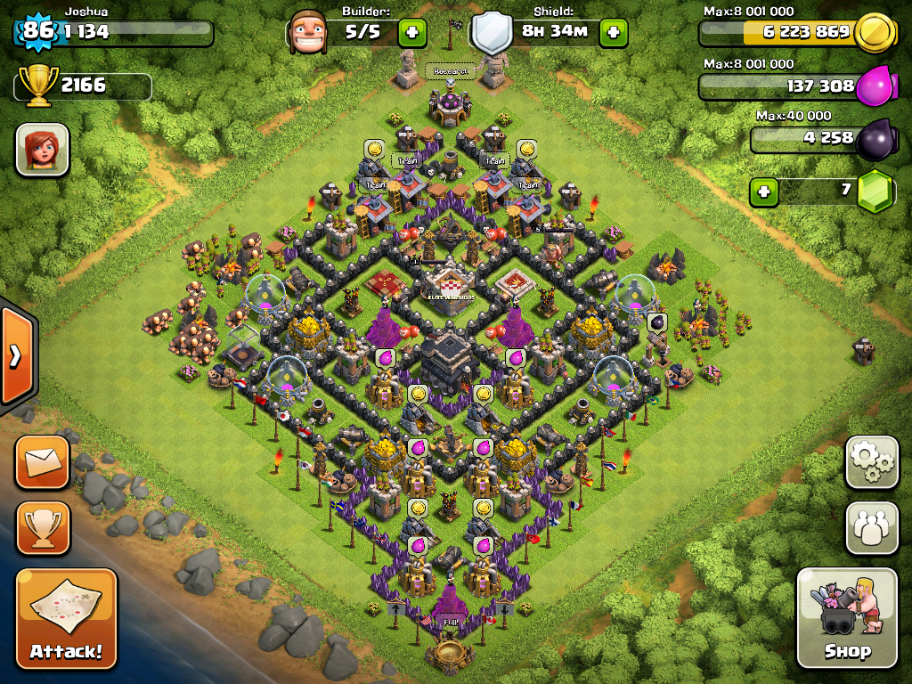 Clash of Clans Base Design for Townhall Level 9 by joshua