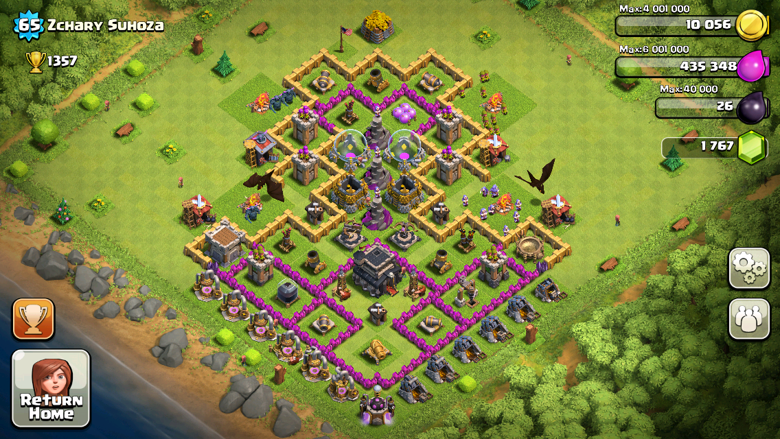 Clash of Clans Base Design for Townhall Level 9 by Zchary Suhoza