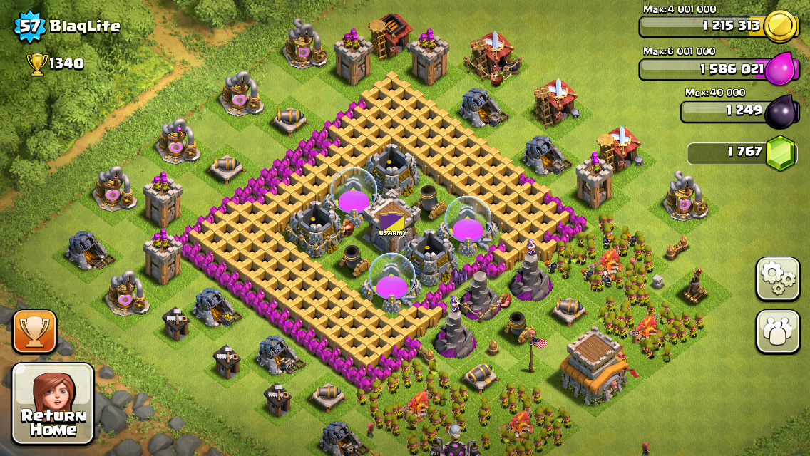 Clash of Clans Base Design for Town hall Level 8 by BlaqLite