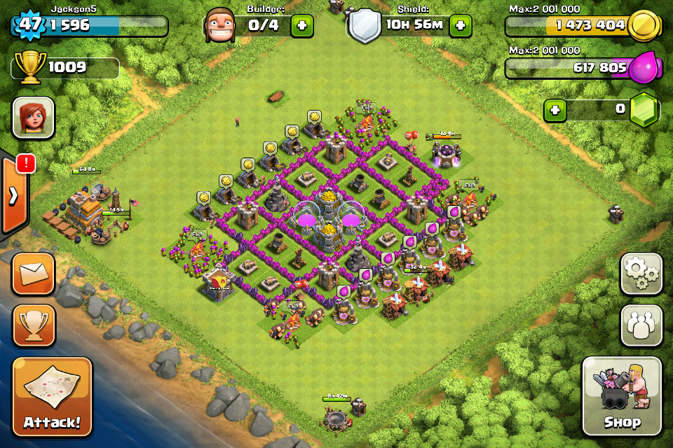 Clash of Clans Base Design for Townhall Level 5-7 by jackson5