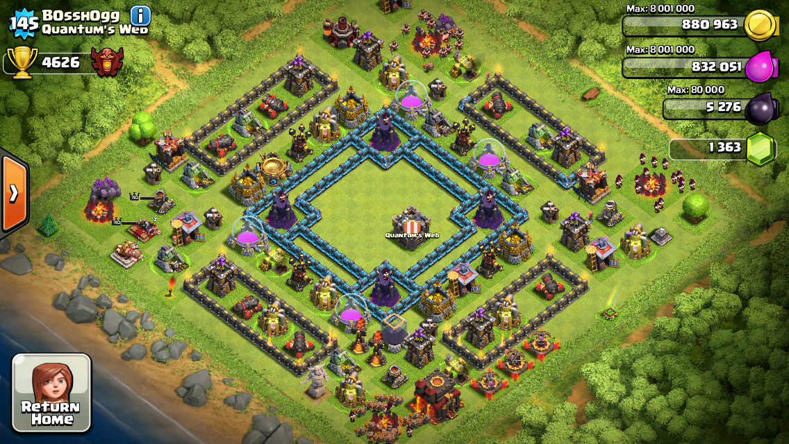 Clash of Clans Base Design for Townhall Level 10 by Bosshogg