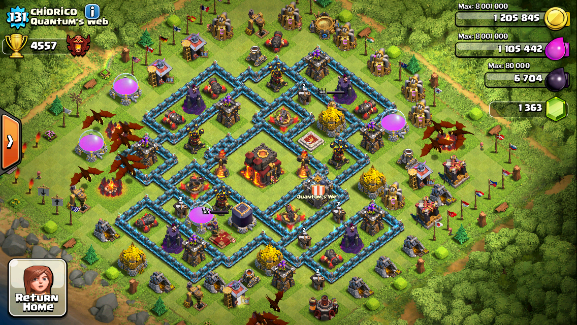 Clash of Clans Base Design for Townhall Level 10 by Chiorico