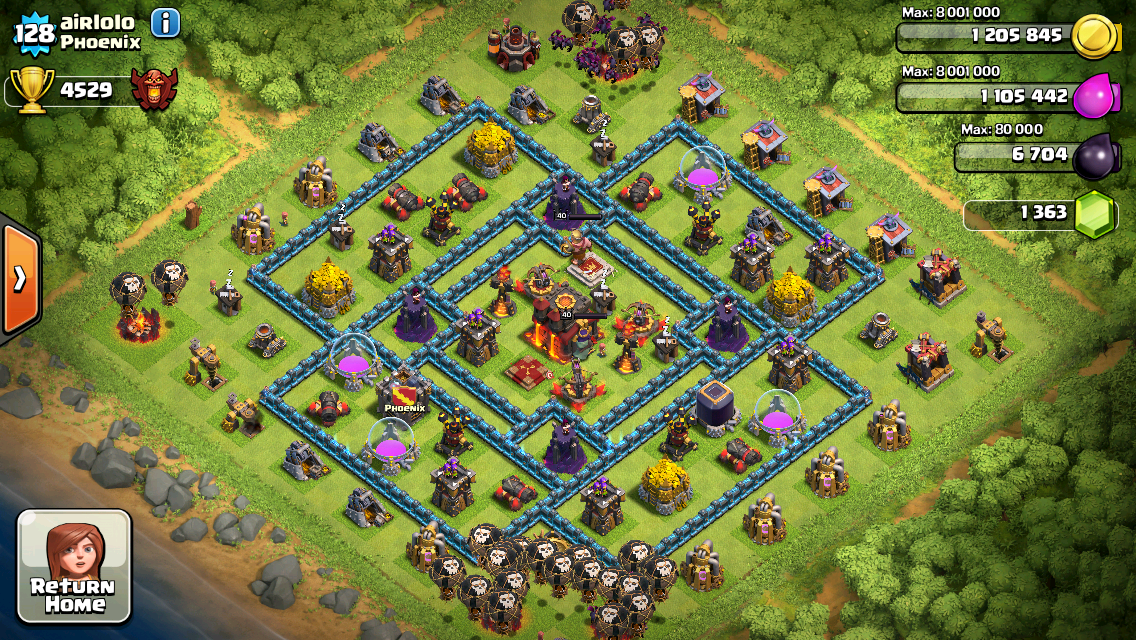 Clash of Clans Base Design for Townhall Level 10 by Airlolo