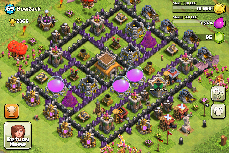 Clash of Clans Base Design for Townhall Level 8 by bowzack