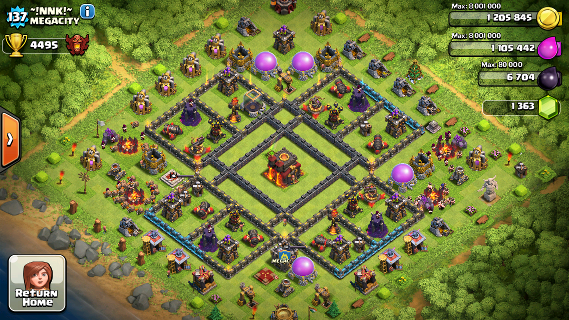Clash of Clans Base Design for Townhall Level 10 by ~!nnk!~