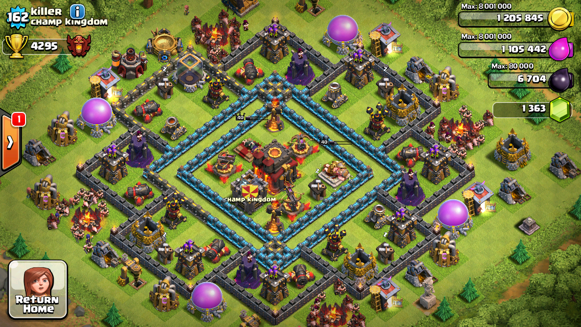 Clash of Clans Base Design for Townhall Level 10 by Killer