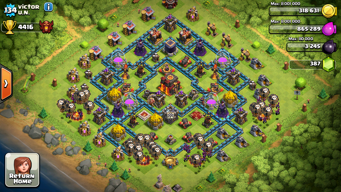 Clash of Clans Base Design for Townhall Level 10 by Victor