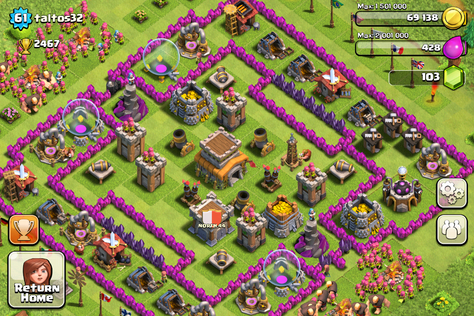 Clash of Clans Base Design for Townhall Level 8 by taltos32
