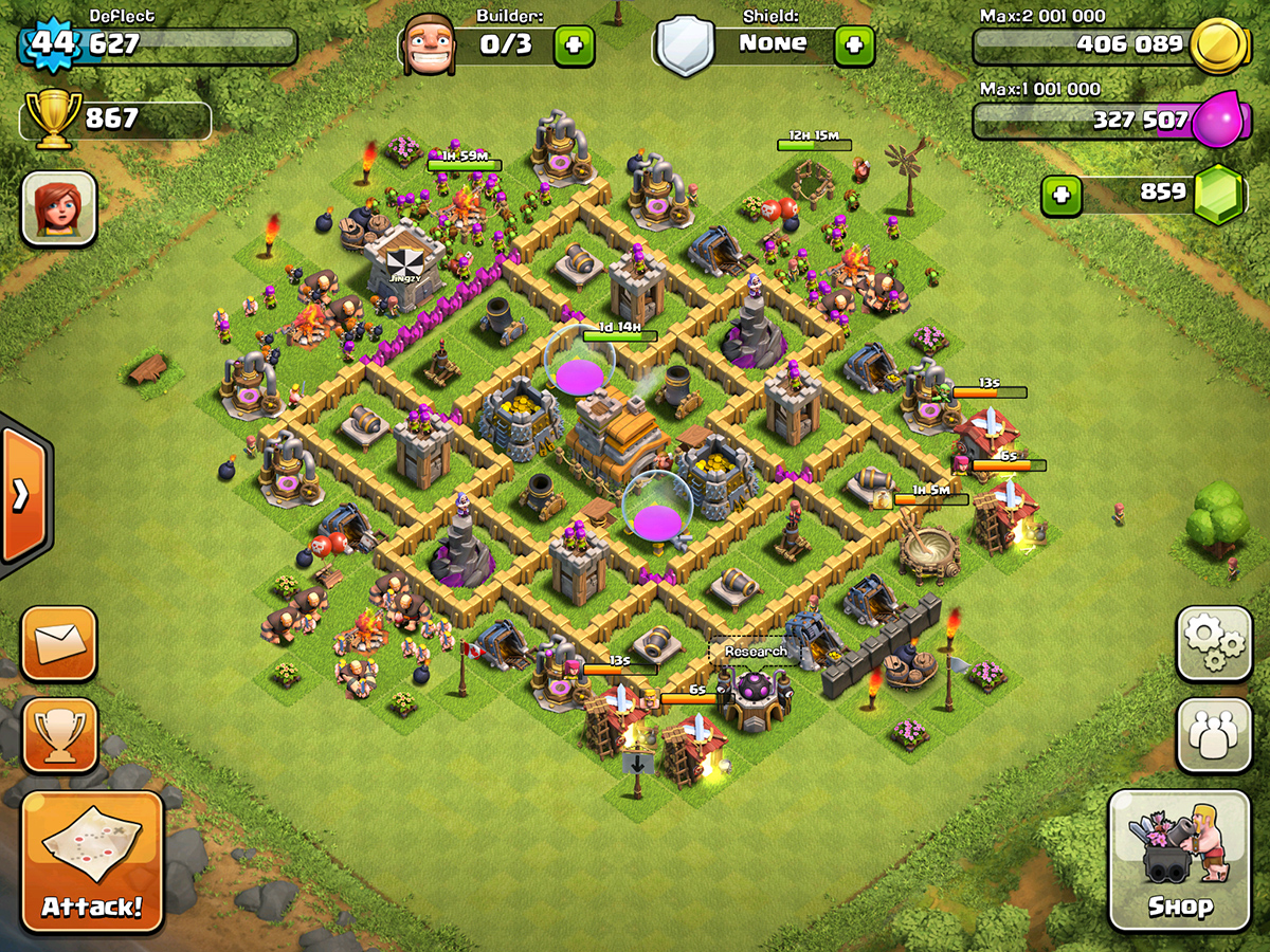 Clash of Clans Base Design for Townhall Level 5-7 by deflect